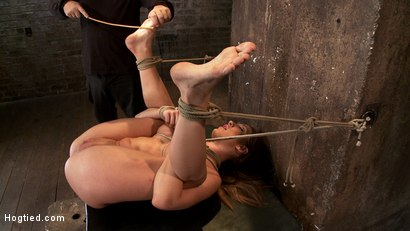 Photo number 3 from Amy Brooke is brutally orgasmed to near hysteria<br> THE LIGHT ARE ON BUT SHE'S NOT HOME! shot for Hogtied on Kink.com. Featuring Amy Brooke in hardcore BDSM & Fetish porn.