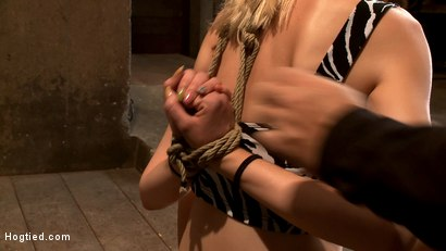 Photo number 3 from Hot Blonde Tied Tightly and Made to Cum shot for Hogtied on Kink.com. Featuring Rylie Richman in hardcore BDSM & Fetish porn.