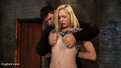 Photo number 2 from Hot Blonde Tied Tightly and Made to Cum shot for hogtied on Kink.com. Featuring Rylie Richman in hardcore BDSM & Fetish porn.