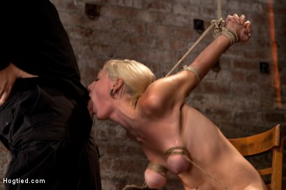 Photo number 6 from Southern girl made to brutally cum over & over. Tight bondage, cruel tit bondage.  Orgasms overload! shot for Hogtied on Kink.com. Featuring Rylie Richman in hardcore BDSM & Fetish porn.
