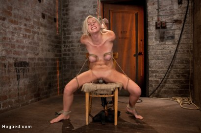 Photo number 7 from Southern girl made to brutally cum over & over. Tight bondage, cruel tit bondage.  Orgasms overload! shot for Hogtied on Kink.com. Featuring Rylie Richman in hardcore BDSM & Fetish porn.