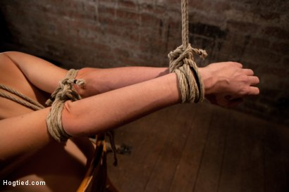 Photo number 1 from Southern girl made to brutally cum over & over. Tight bondage, cruel tit bondage.  Orgasms overload! shot for Hogtied on Kink.com. Featuring Rylie Richman in hardcore BDSM & Fetish porn.