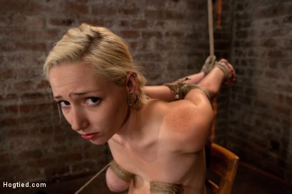 Photo number 11 from Southern girl made to brutally cum over & over. Tight bondage, cruel tit bondage.  Orgasms overload! shot for Hogtied on Kink.com. Featuring Rylie Richman in hardcore BDSM & Fetish porn.