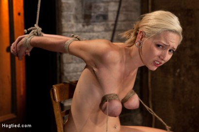 Photo number 10 from Southern girl made to brutally cum over & over. Tight bondage, cruel tit bondage.  Orgasms overload! shot for Hogtied on Kink.com. Featuring Rylie Richman in hardcore BDSM & Fetish porn.