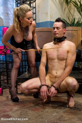 Photo number 12 from Ultimate Humiliation, TRUE DEVOTION!!!! shot for Divine Bitches on Kink.com. Featuring Aiden Starr, Leo and Jason Miller in hardcore BDSM & Fetish porn.