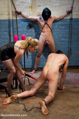 Photo number 13 from Ultimate Humiliation, TRUE DEVOTION!!!! shot for Divine Bitches on Kink.com. Featuring Aiden Starr, Leo and Jason Miller in hardcore BDSM & Fetish porn.