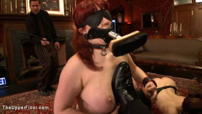 Photo number 3 from Service Day: Blind shine shot for The Upper Floor on Kink.com. Featuring Nerine Mechanique and Iona Grace in hardcore BDSM & Fetish porn.