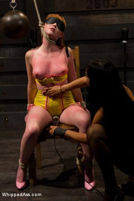 Photo number 3 from Milking Her Tits shot for Whipped Ass on Kink.com. Featuring Isis Love and Marie McCray in hardcore BDSM & Fetish porn.