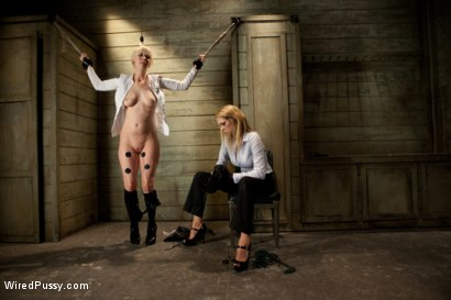 Photo number 6 from Sexy TSA Agent has the Tables Turned and Finds Herself the One Getting Inspected shot for Wired Pussy on Kink.com. Featuring Cherry Torn and Rain DeGrey in hardcore BDSM & Fetish porn.