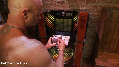 Photo number 13 from Bartender Plays When the Boys Go Away shot for Butt Machine Boys on Kink.com. Featuring Chad Brock in hardcore BDSM & Fetish porn.