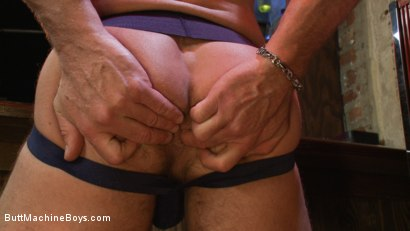 Photo number 2 from Bartender Plays When the Boys Go Away shot for Butt Machine Boys on Kink.com. Featuring Chad Brock in hardcore BDSM & Fetish porn.