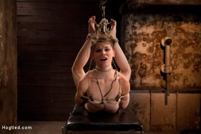 Photo number 13 from Extreme reverse Prayer Category 5 Hogtied<br>Tying done on screen. Former Disney star made to cum. shot for Hogtied on Kink.com. Featuring Isis Love and Sensi Pearl in hardcore BDSM & Fetish porn.