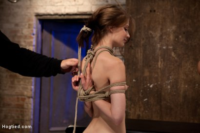 Photo number 3 from Extreme reverse Prayer Category 5 Hogtied<br>Tying done on screen. Former Disney star made to cum. shot for Hogtied on Kink.com. Featuring Isis Love and Sensi Pearl in hardcore BDSM & Fetish porn.