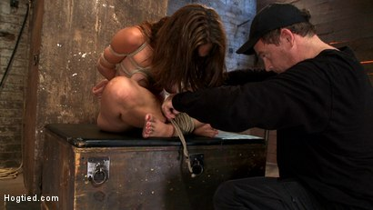 Photo number 3 from Audrey has suffered through 3 brutal scenes, now she gets brutally fucked by Isis while face fucked. shot for Hogtied on Kink.com. Featuring Isis Love and Audrey Rose in hardcore BDSM & Fetish porn.