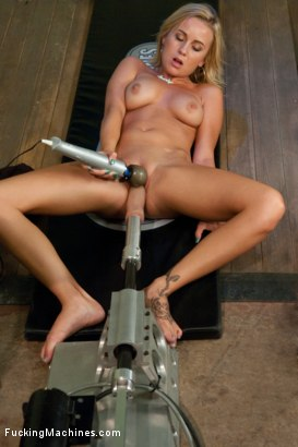 Photo number 5 from Big Cock, Tight Pussy Territory shot for Fucking Machines on Kink.com. Featuring Mae Meyers in hardcore BDSM & Fetish porn.