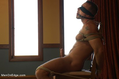 Photo number 14 from Porn superstar Jessie Colter gets bound, gagged and edged until he begs to cum. shot for Men On Edge on Kink.com. Featuring Jessie Colter in hardcore BDSM & Fetish porn.