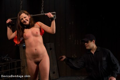 Photo number 1 from Skydiver lands herself in a dungeon shot for Device Bondage on Kink.com. Featuring Hope Howell in hardcore BDSM & Fetish porn.