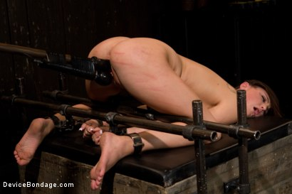 Photo number 6 from Skydiver lands herself in a dungeon shot for Device Bondage on Kink.com. Featuring Hope Howell in hardcore BDSM & Fetish porn.