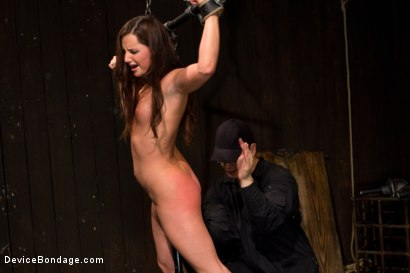 Photo number 2 from Skydiver lands herself in a dungeon shot for Device Bondage on Kink.com. Featuring Hope Howell in hardcore BDSM & Fetish porn.