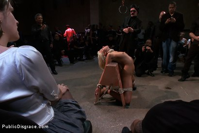 Photo number 3 from At the Mercy of the Crowd shot for Public Disgrace on Kink.com. Featuring James Deen, Katie Summers, Mr. Pete and Princess Donna Dolore in hardcore BDSM & Fetish porn.