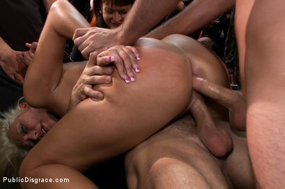 Photo number 12 from At the Mercy of the Crowd shot for Public Disgrace on Kink.com. Featuring James Deen, Katie Summers, Mr. Pete and Princess Donna Dolore in hardcore BDSM & Fetish porn.