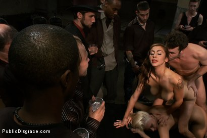 Photo number 10 from At the Mercy of the Crowd shot for Public Disgrace on Kink.com. Featuring James Deen, Katie Summers, Mr. Pete and Princess Donna Dolore in hardcore BDSM & Fetish porn.
