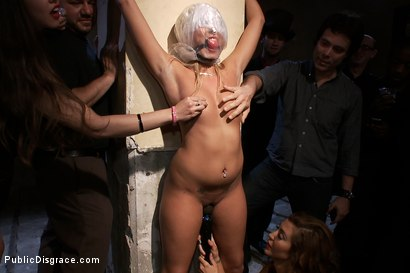 Photo number 1 from At the Mercy of the Crowd shot for Public Disgrace on Kink.com. Featuring James Deen, Katie Summers, Mr. Pete and Princess Donna Dolore in hardcore BDSM & Fetish porn.