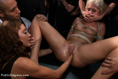 Photo number 11 from At the Mercy of the Crowd shot for Public Disgrace on Kink.com. Featuring James Deen, Katie Summers, Mr. Pete and Princess Donna Dolore in hardcore BDSM & Fetish porn.