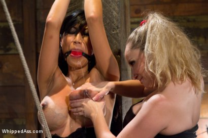 Photo number 9 from Lactating Anal Whore shot for Whipped Ass on Kink.com. Featuring Tia Ling and Aiden Starr in hardcore BDSM & Fetish porn.