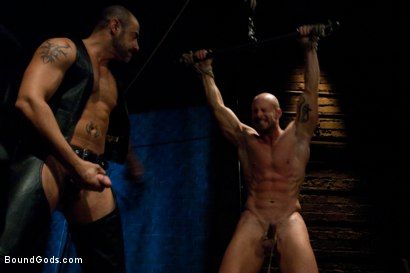 Photo number 7 from Muscle Stud and the Electric Ball Crusher shot for Bound Gods on Kink.com. Featuring CJ Madison and Mitch Vaughn in hardcore BDSM & Fetish porn.