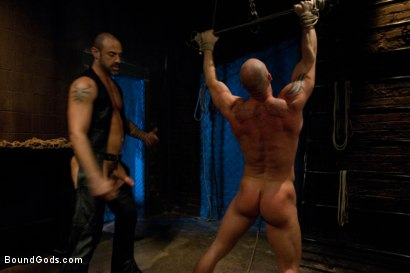 Photo number 8 from Muscle Stud and the Electric Ball Crusher shot for Bound Gods on Kink.com. Featuring CJ Madison and Mitch Vaughn in hardcore BDSM & Fetish porn.
