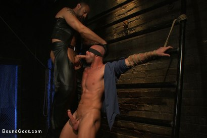 Photo number 5 from Muscle Stud and the Electric Ball Crusher shot for Bound Gods on Kink.com. Featuring CJ Madison and Mitch Vaughn in hardcore BDSM & Fetish porn.