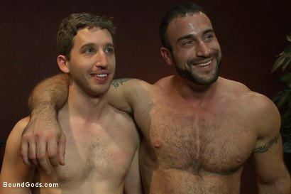Photo number 15 from The Other Brother and His Bad Boy shot for Bound Gods on Kink.com. Featuring Spencer Reed and Tony Hunter in hardcore BDSM & Fetish porn.
