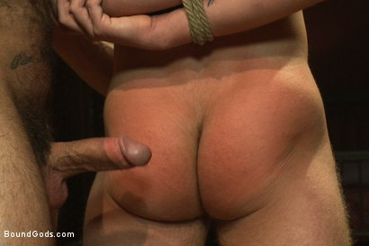 Photo number 5 from The Other Brother and His Bad Boy shot for Bound Gods on Kink.com. Featuring Spencer Reed and Tony Hunter in hardcore BDSM & Fetish porn.