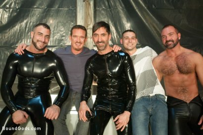 Photo number 15 from They Cum from Outer Space - Part One shot for Bound Gods on Kink.com. Featuring Spencer Reed, Josh West, Jackson Lawless, Reed Mathews and Scott Upton in hardcore BDSM & Fetish porn.