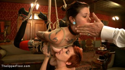 Photo number 17 from First Dismissal shot for The Upper Floor on Kink.com. Featuring Lilla Katt and Krysta Kaos in hardcore BDSM & Fetish porn.