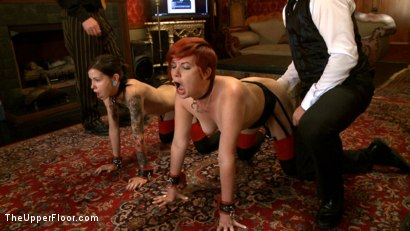 Photo number 10 from First Dismissal shot for The Upper Floor on Kink.com. Featuring Lilla Katt and Krysta Kaos in hardcore BDSM & Fetish porn.