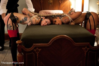Photo number 13 from 5's Dismissal shot for The Upper Floor on Kink.com. Featuring Skin Diamond, Nerine Mechanique, Krysta Kaos and Maestro Stefanos in hardcore BDSM & Fetish porn.