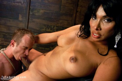 Photo number 8 from Face Sitting, Face Banging, Cum Sucking: The Powerful Return of Vaniity shot for TS Seduction on Kink.com. Featuring Rick Monroe and Vaniity in hardcore BDSM & Fetish porn.