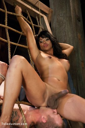 Photo number 6 from Face Sitting, Face Banging, Cum Sucking: The Powerful Return of Vaniity shot for TS Seduction on Kink.com. Featuring Rick Monroe and Vaniity in hardcore BDSM & Fetish porn.