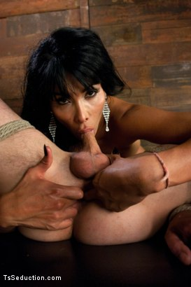 Photo number 9 from Face Sitting, Face Banging, Cum Sucking: The Powerful Return of Vaniity shot for TS Seduction on Kink.com. Featuring Rick Monroe and Vaniity in hardcore BDSM & Fetish porn.