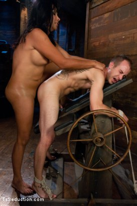 Photo number 11 from Face Sitting, Face Banging, Cum Sucking: The Powerful Return of Vaniity shot for TS Seduction on Kink.com. Featuring Rick Monroe and Vaniity in hardcore BDSM & Fetish porn.