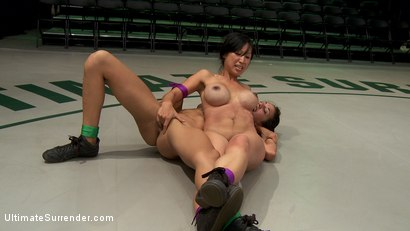 Photo number 10 from Veteran destroys rookie<br>Brutal submission holds, finger fucking, scissor locks, Loser is fisted! shot for Ultimate Surrender on Kink.com. Featuring Tia Ling and Lyla Storm in hardcore BDSM & Fetish porn.