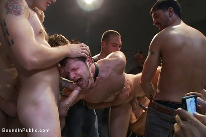 Photo number 10 from Brian Bonds gets caught in a piss and cum fest. shot for Bound in Public on Kink.com. Featuring Christian Wilde and Brian Bonds in hardcore BDSM & Fetish porn.