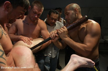 Photo number 4 from Brian Bonds gets caught in a piss and cum fest. shot for Bound in Public on Kink.com. Featuring Christian Wilde and Brian Bonds in hardcore BDSM & Fetish porn.