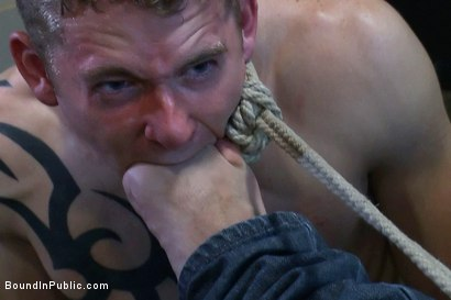 Photo number 9 from The Brooks - gets piss in the mouth and licks cum off the dirty floor. shot for Bound in Public on Kink.com. Featuring Girth Brooks and Cole Brooks in hardcore BDSM & Fetish porn.