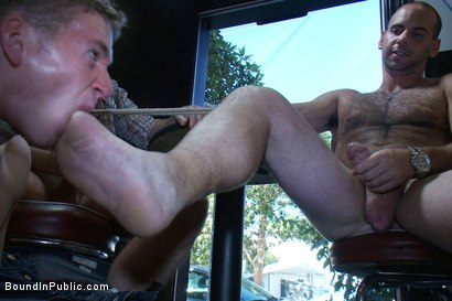 Photo number 10 from The Brooks - gets piss in the mouth and licks cum off the dirty floor. shot for Bound in Public on Kink.com. Featuring Girth Brooks and Cole Brooks in hardcore BDSM & Fetish porn.
