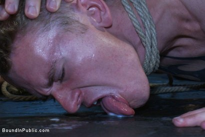 Photo number 12 from The Brooks - gets piss in the mouth and licks cum off the dirty floor. shot for Bound in Public on Kink.com. Featuring Girth Brooks and Cole Brooks in hardcore BDSM & Fetish porn.