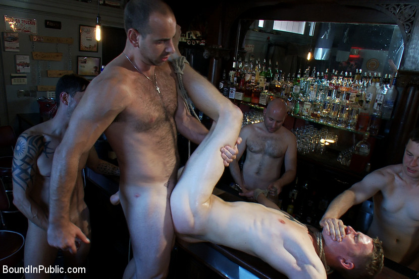 Dirty public gay gets a cumshot after being fucked