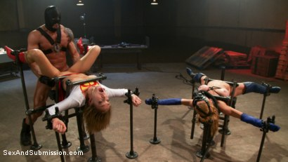 Photo number 10 from Broken Heroines: A Superhero Parody, High Production BDSM and Sex Feature! shot for Sex And Submission on Kink.com. Featuring Dee Williams, Lily LaBeau and Lee Stone in hardcore BDSM & Fetish porn.
